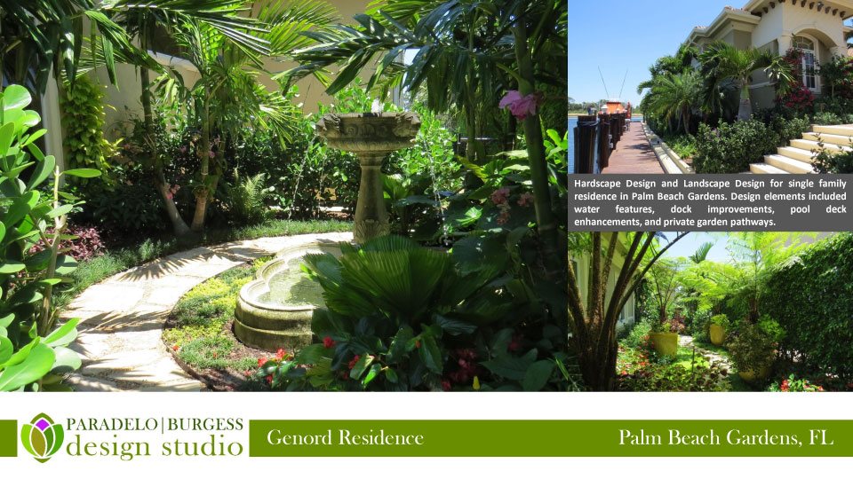 Hardscape Design And Landscape Design For Single Family Residence In Palm  Beach Gardens. Design Elements Included Water Features, Dock Improvements,  ...